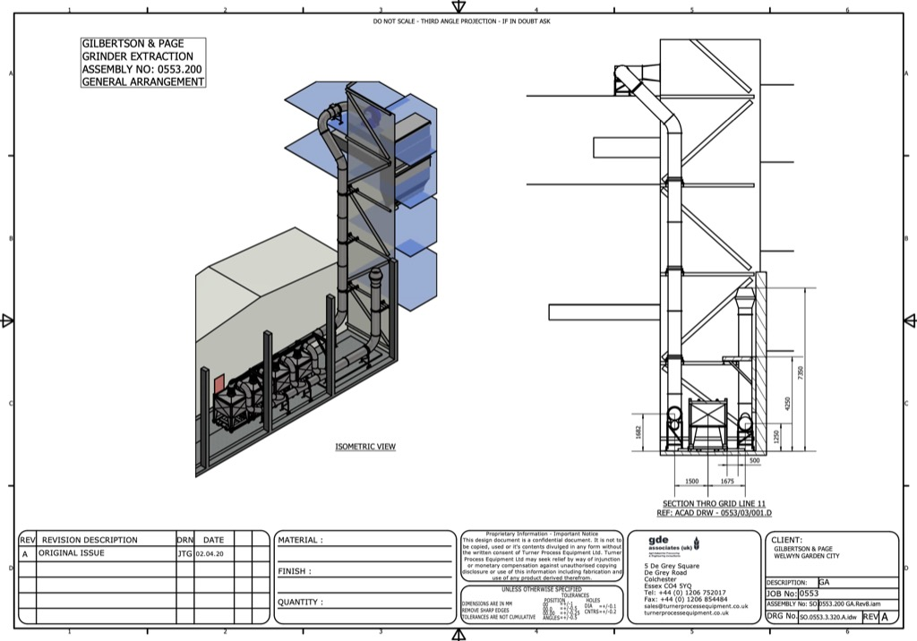 Gilbertson and Page Technical Drawings